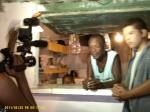 No Bairro Aliança, entrevistando um comerciante local